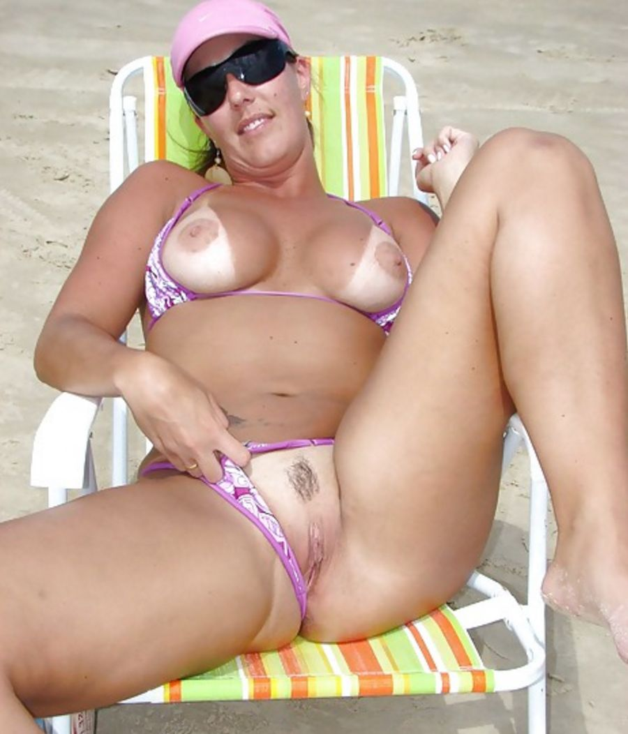 Wife Flashing On Beach